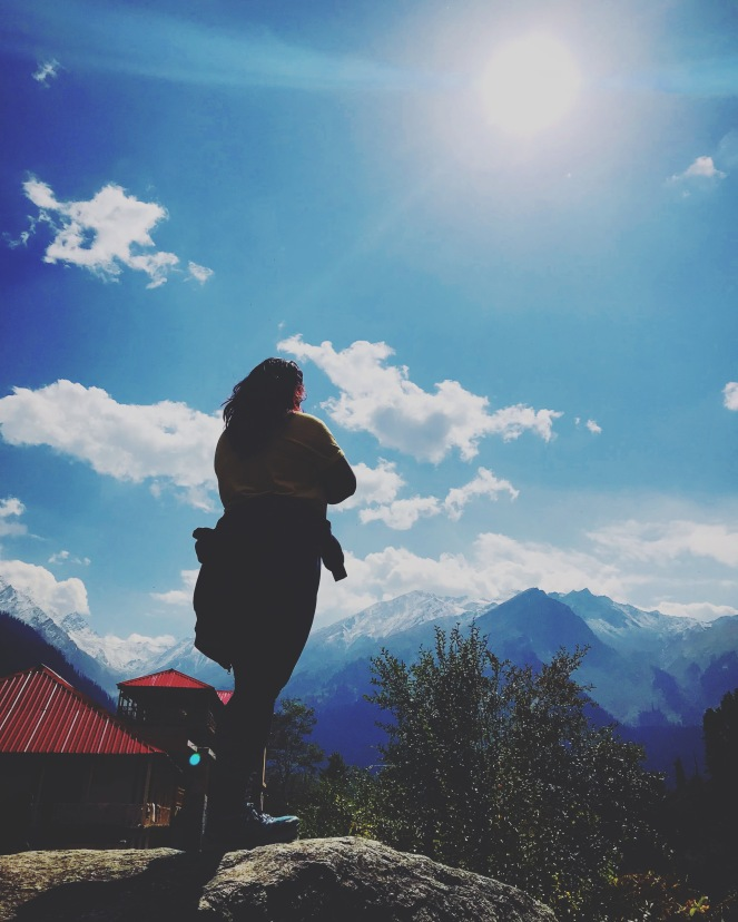 Thatbhaumikgirl silhouette at Tosh Valley Himachal Pradesh